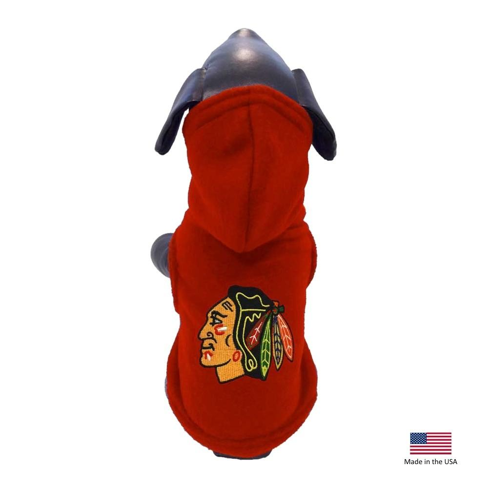 Chicago Blackhawks Polar Fleece Pet Hoodie - Furry Friend Frocks