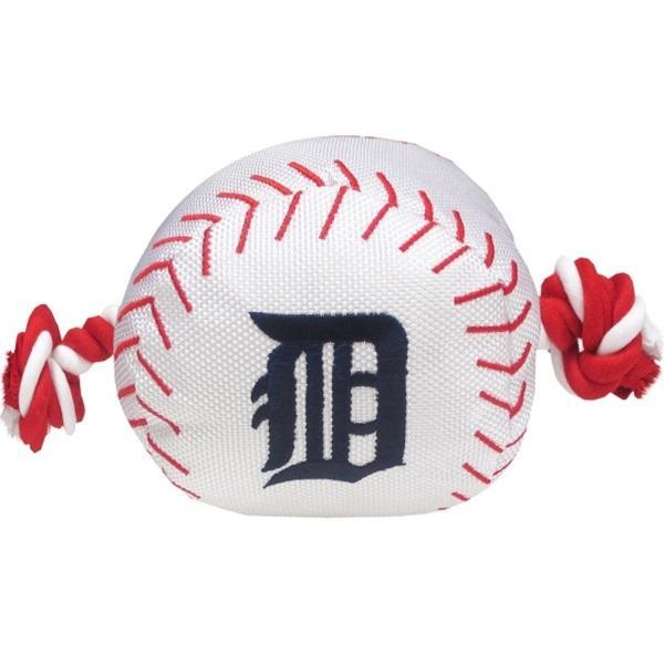 Detroit Tigers Nylon Baseball Rope Tug Toy - Furry Friend Frocks