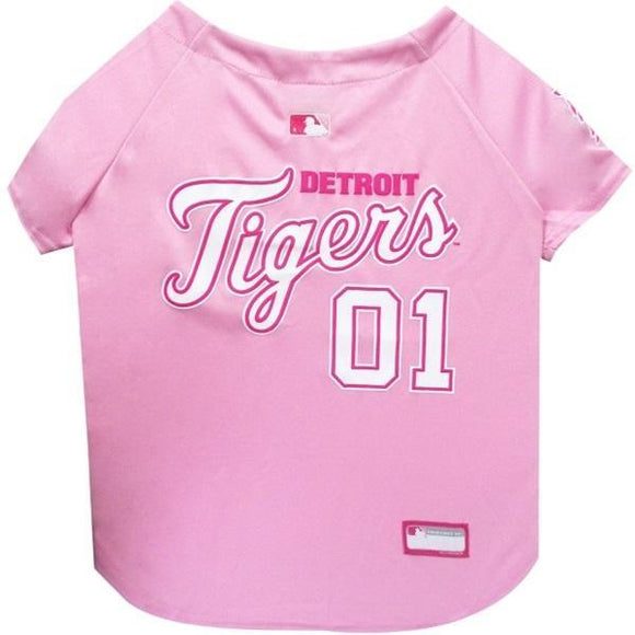 Detroit Tigers Pink Pet Jersey - Furry Friend Frocks