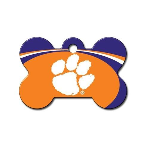Clemson Tigers Bone Id Tag - Furry Friend Frocks