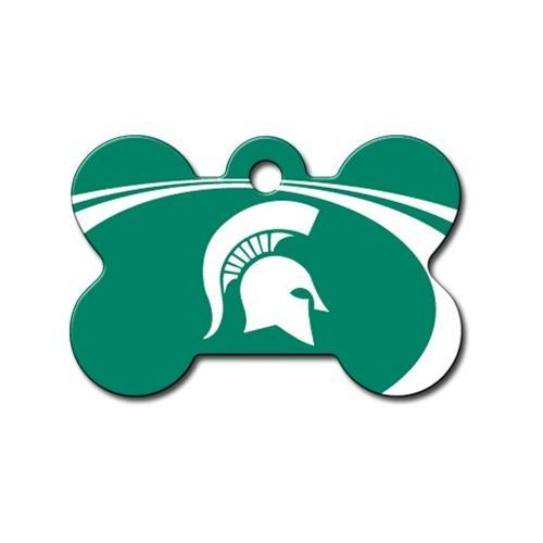 Michigan State Spartans Bone Id Tag - Furry Friend Frocks
