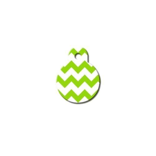 Chevron Small Circle Id Tag - Furry Friend Frocks