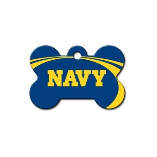 Navy Midshipmen Bone Id Tag - Furry Friend Frocks