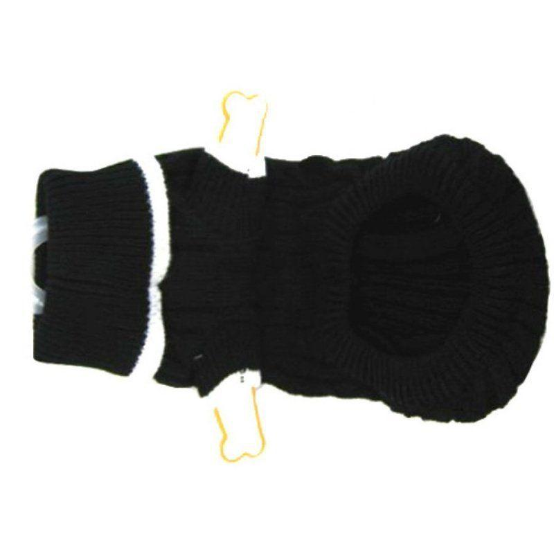 Fashion Pet Cable Knit Dog Sweater - Black-Apparel Sweaters & Pajamas-Furry Friend Frocks