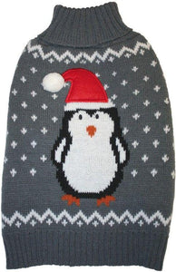 Fashion Pet Gray Penguin Dog Sweater-Apparel Sweaters & Pajamas-Furry Friend Frocks