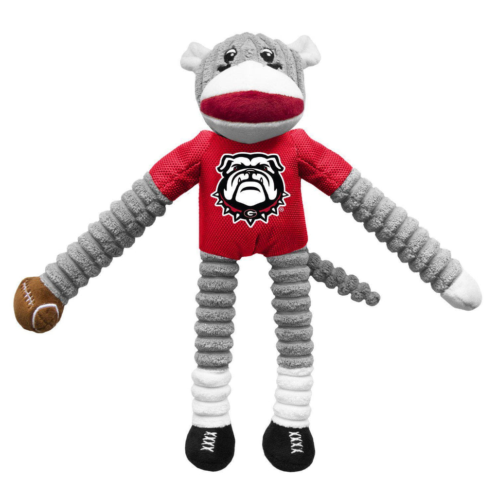 Georgia Bulldogs Sock Monkey Pet Toy - Furry Friend Frocks