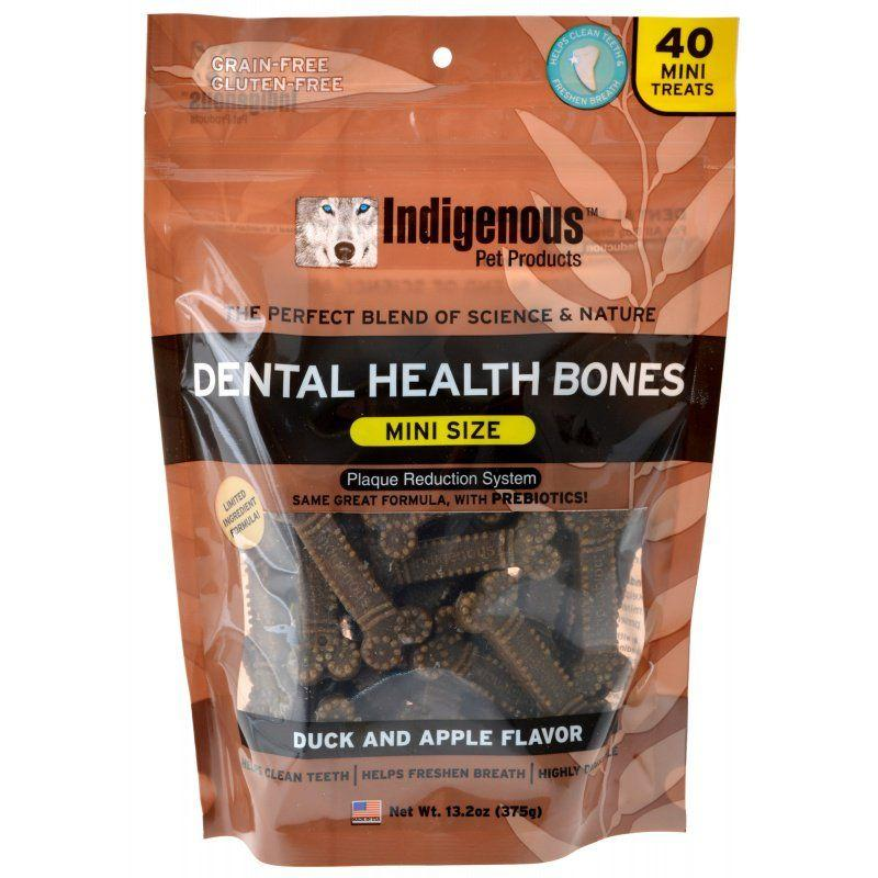Indigenous Dental Health Mini Bones - Duck & Apple Flavor-Made in the USA Dog Treats-Furry Friend Frocks