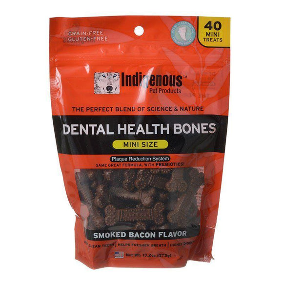 Indigenous Dental Health Mini Bones - Smoked Bacon Flavor-Made in the USA Dog Treats-Furry Friend Frocks