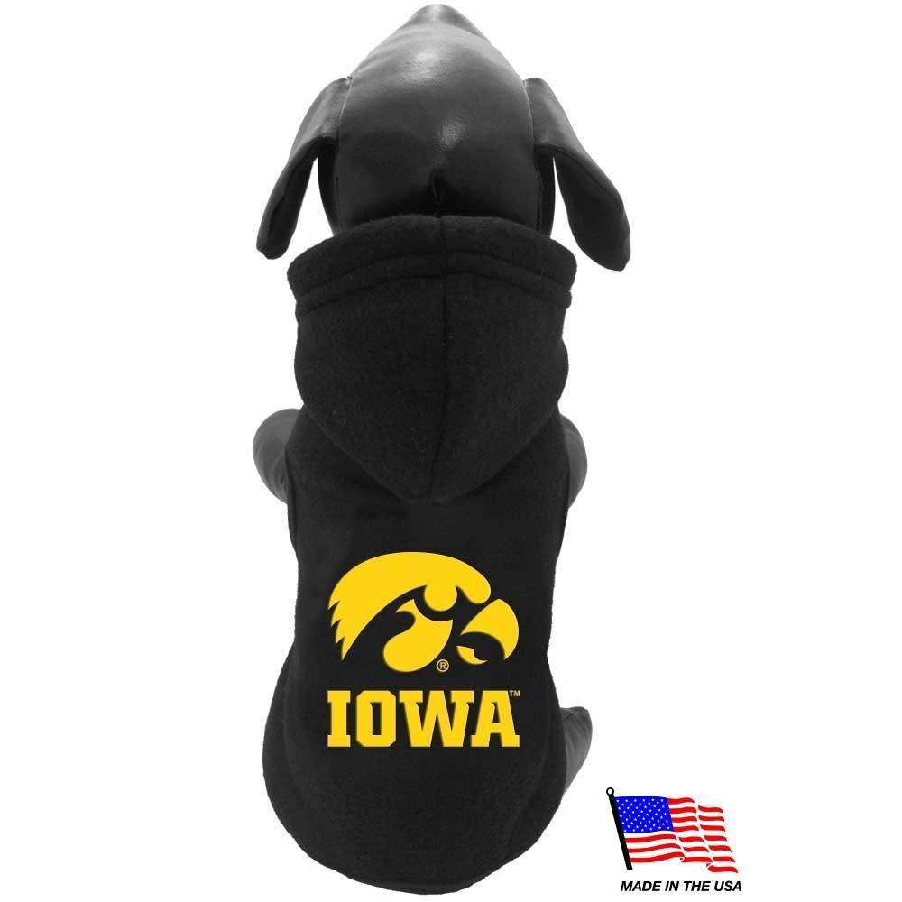 Iowa Hawkeyes Polar Fleece Pet Hoodie - Furry Friend Frocks
