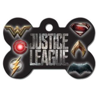 Justice League Large Bone Id Tag - Furry Friend Frocks