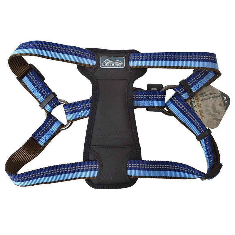 K9 Explorer Sapphire Reflective Adjustable Padded Dog Harness-Harnesses Nylon Standard-Furry Friend Frocks