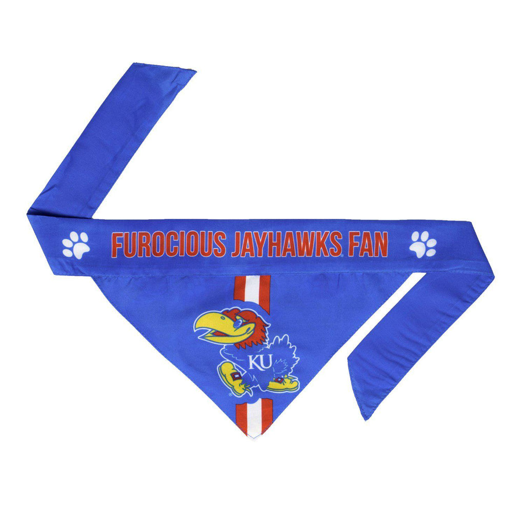 Kansas Jayhawks Pet Reversible Paisley Bandana - Furry Friend Frocks