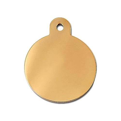 Large Polished Circle Id Tag - Furry Friend Frocks