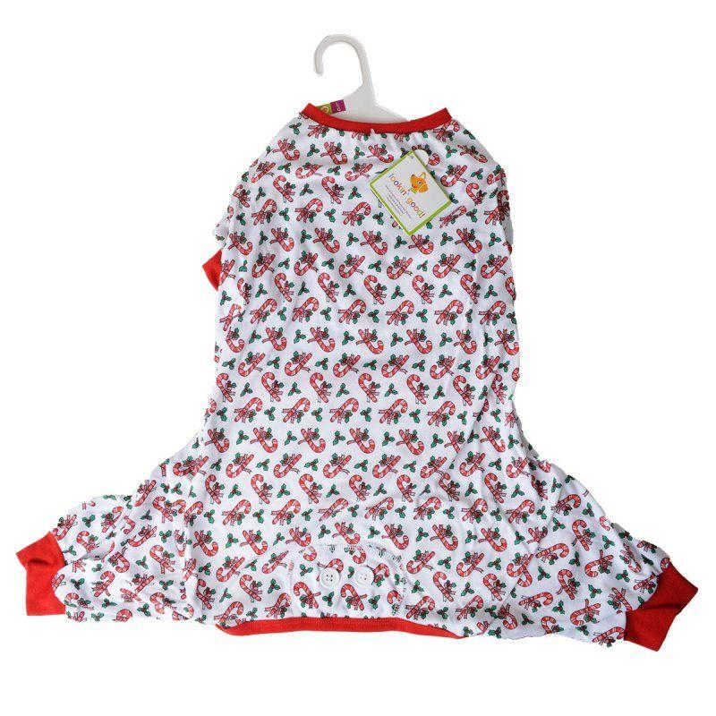 Lookin Good Candy Cane Dog Pajamas-Apparel Sweaters & Pajamas-Furry Friend Frocks