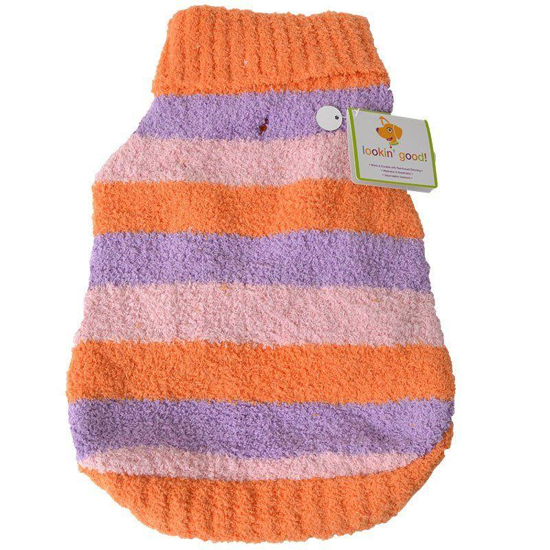 Lookin Good Striped Dog Sweater - Orange-Pajamas-Furry Friend Frocks