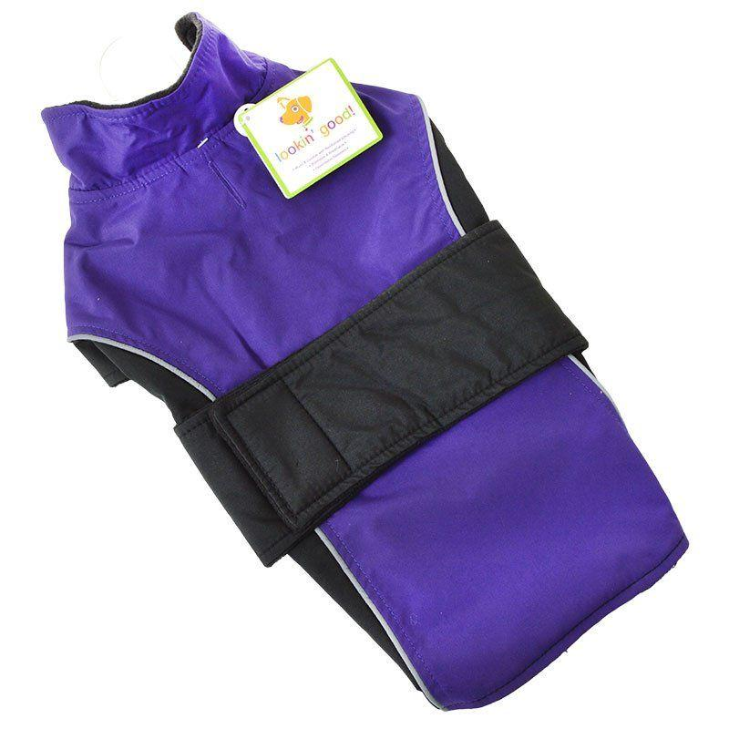 Lookin' Good Waterproof Reflective Dog Coat - Purple-Apparel Coats & Slickers-Furry Friend Frocks