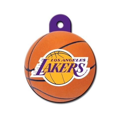 Los Angeles Lakers Circle Id Tag - Furry Friend Frocks