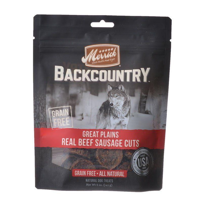 Merrick Backcountry Great Plains Real Beef Sausage Cuts-Made in the USA Dog Treats-Furry Friend Frocks