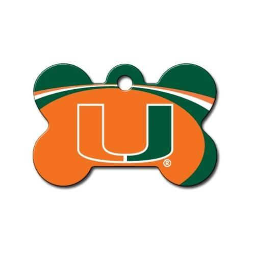 Miami Hurricanes Bone Id Tag - Furry Friend Frocks