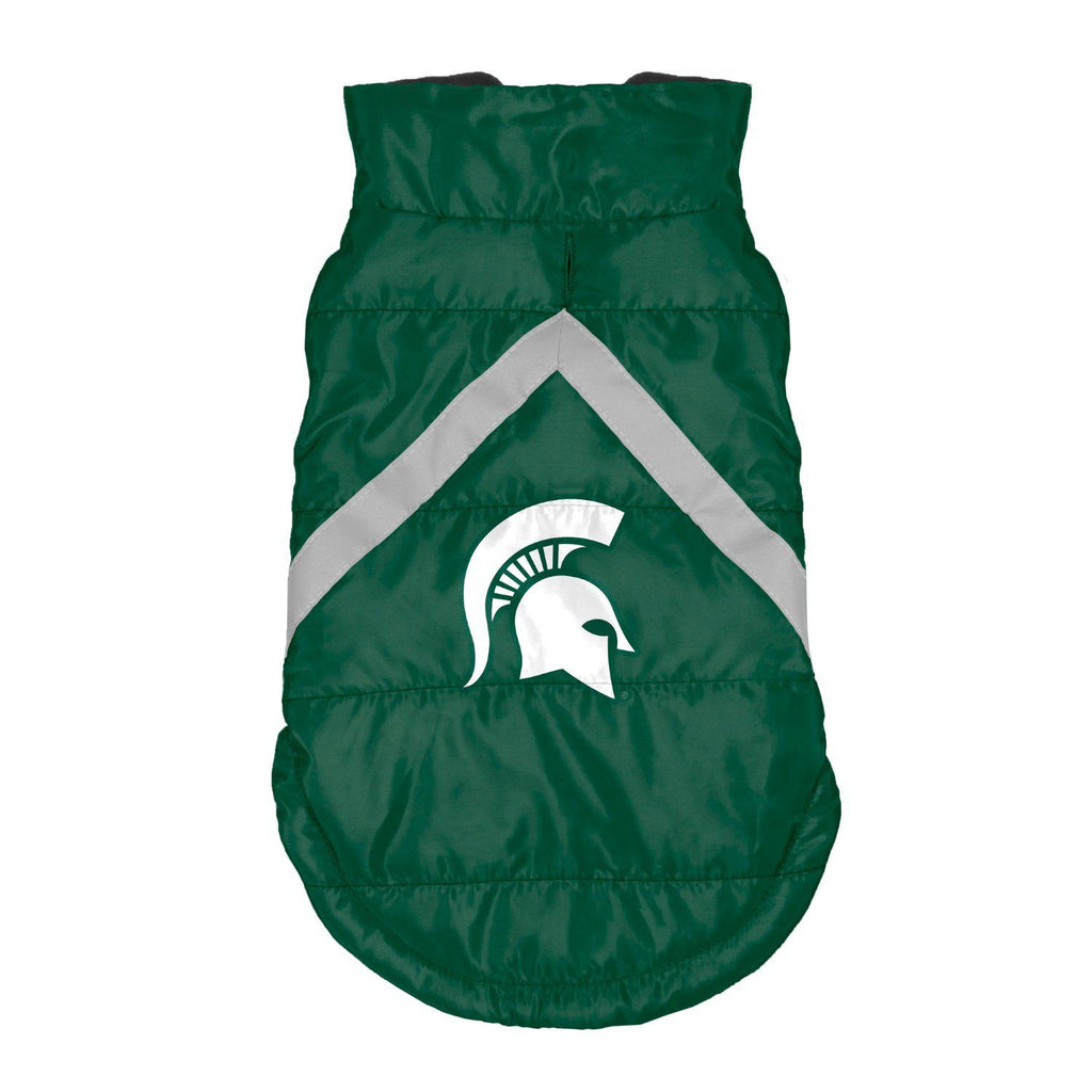 Michigan State Spartans Pet Puffer Vest - Furry Friend Frocks