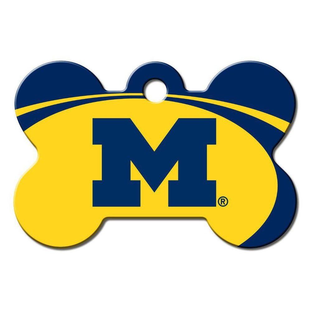 Michigan Wolverines Bone Id Tag - Furry Friend Frocks