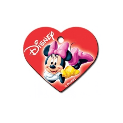 Minnie Mouse Heart Id Tag - Furry Friend Frocks