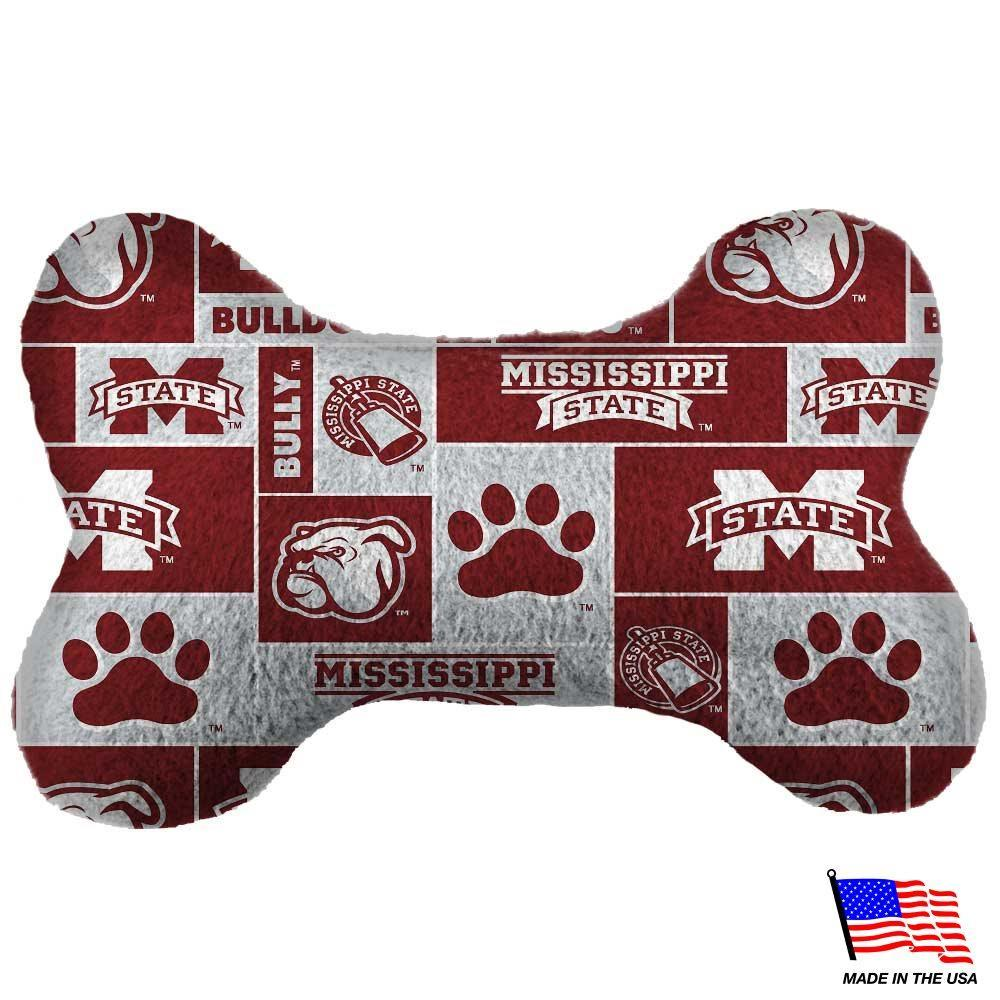 Mississippi State Plush Bone Toy - Furry Friend Frocks