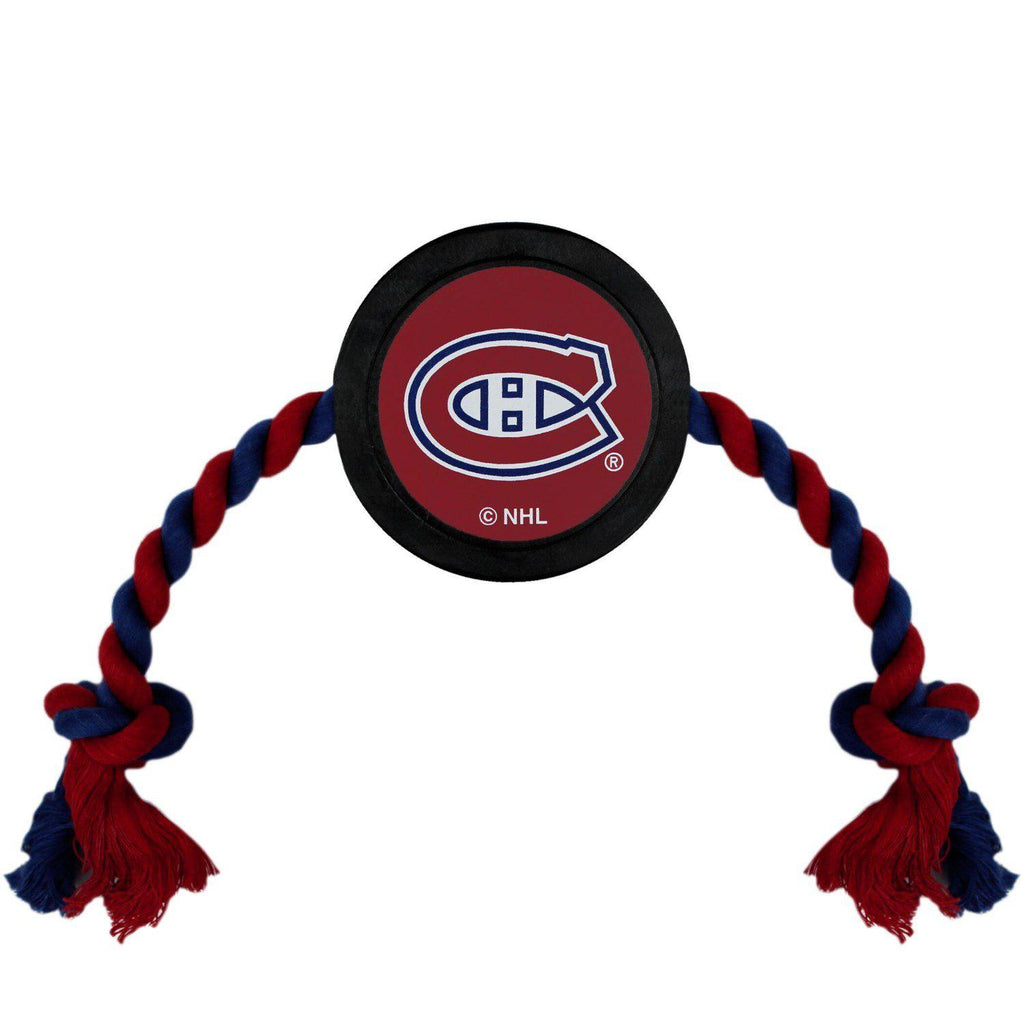 Montreal Canadiens Pet Hockey Puck Rope Toy - Furry Friend Frocks