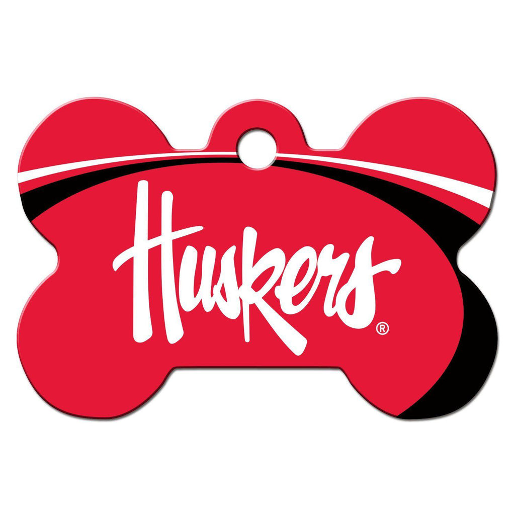 Nebraska Huskers Bone Id Tag - Furry Friend Frocks
