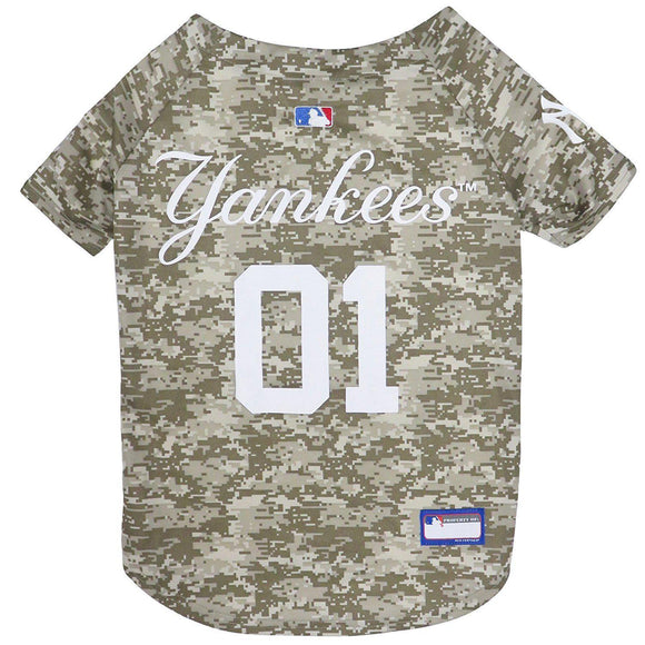 New York Yankees Pet Camo Jersey - Furry Friend Frocks
