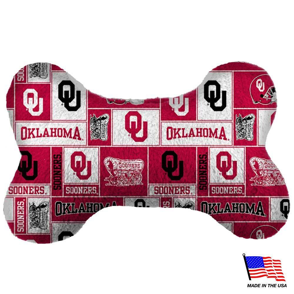 Oklahoma Sooners Plush Bone Toy - Furry Friend Frocks