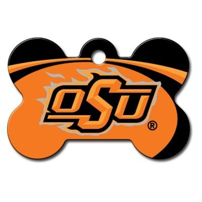 Oklahoma State Cowboys Bone Id Tag - Furry Friend Frocks