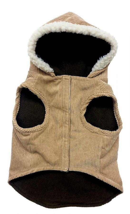 Outdoor Dog Toggle Corduroy Dog Coat - Camel-Apparel Coats & Slickers-Furry Friend Frocks