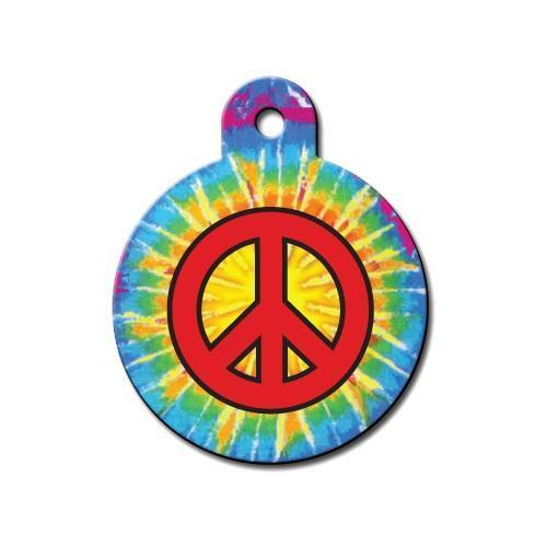 Peace Sign Circle Id Tag - Furry Friend Frocks