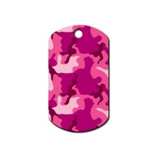 Pink Camouflage Print Military Id Tag - Furry Friend Frocks