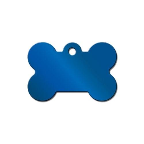 Polished Blue Large Bone Id Tag - Furry Friend Frocks