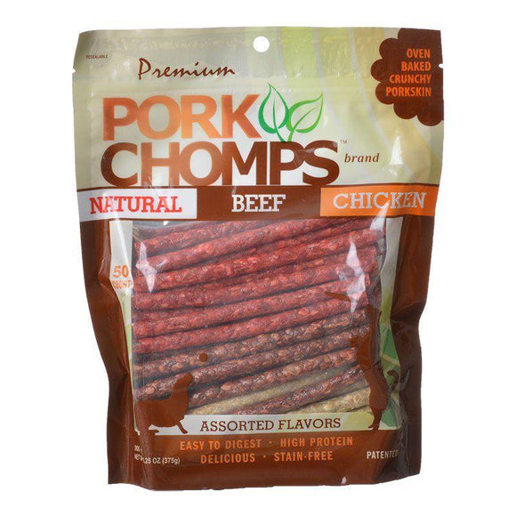 Premium Pork Chomps Assorted Munchy Sticks-Treats Packaged-Furry Friend Frocks