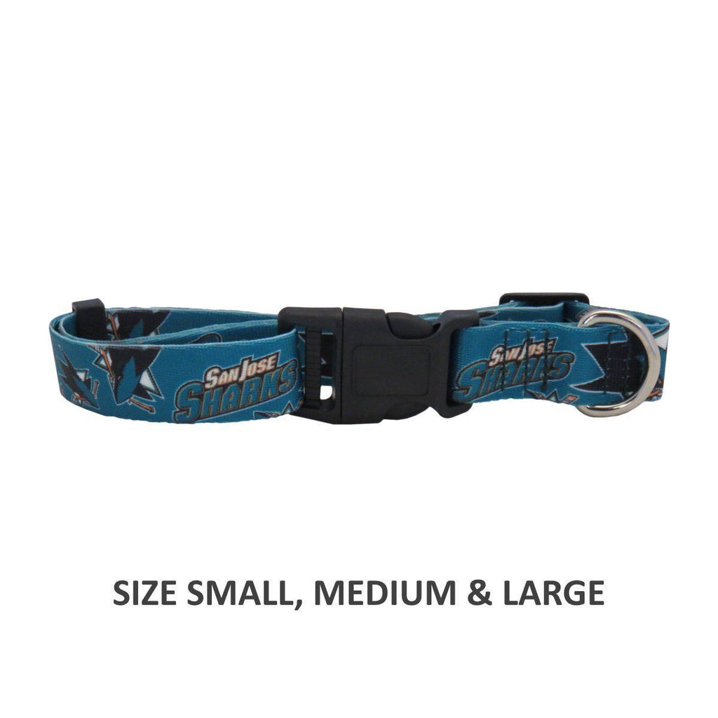 San Jose Sharks Pet Nylon Collar - Furry Friend Frocks
