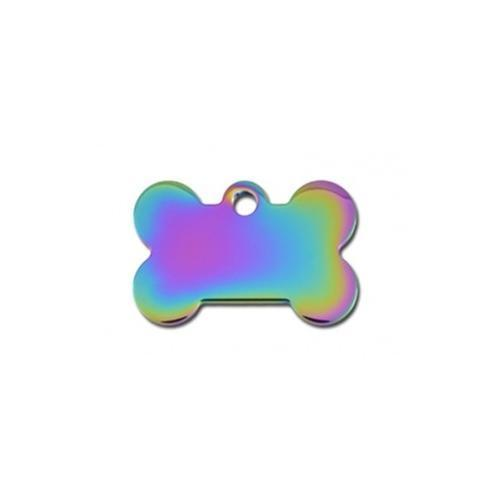 Small Polished Rainbow Bone Id Tag - Furry Friend Frocks