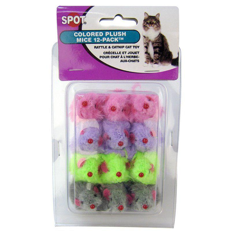 Spot Colored Fur Mice Cat Toys-Toys Other-Furry Friend Frocks