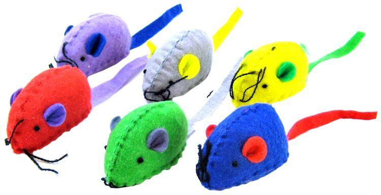 Spot Felt Mice with Catnip Cat Toys-Toys Other-Furry Friend Frocks