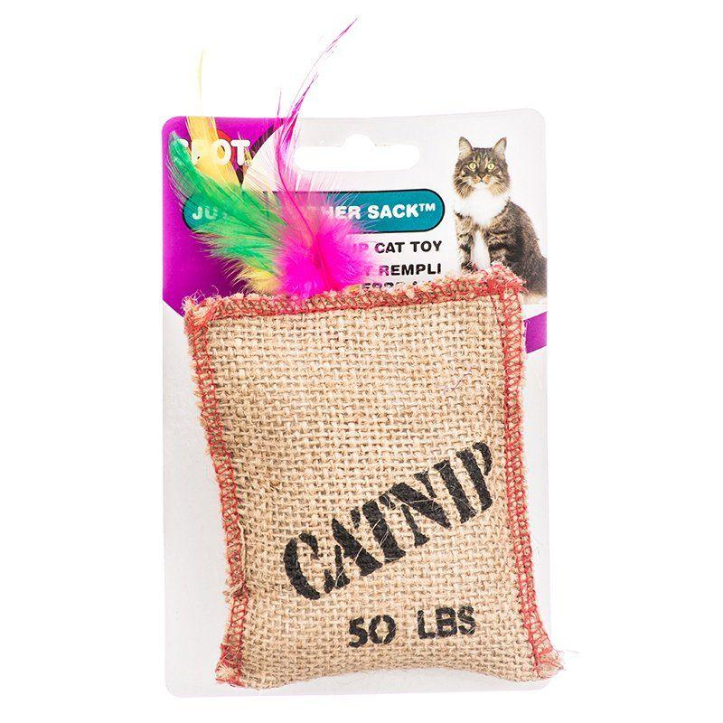 Spot Jute & Feather Sack with Catnip Cat Toy-Toys Catnip-Furry Friend Frocks