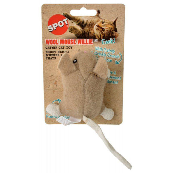 Spot Wool Mouse Willie Catnip Toy - Assorted Colors-Toys Catnip-Furry Friend Frocks