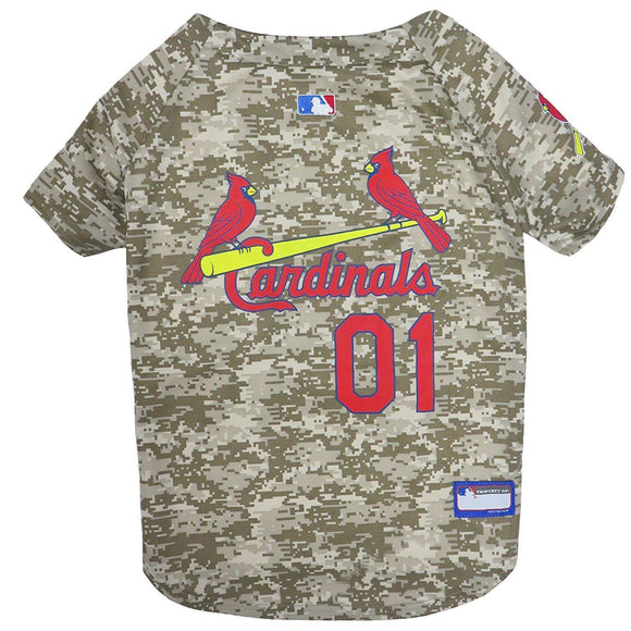 St. Louis Cardinals Pet Camo Jersey - Furry Friend Frocks