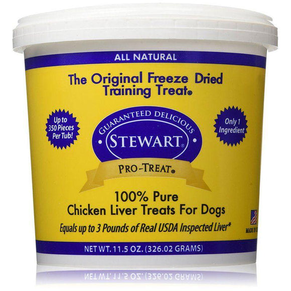 Stewart Pro-Treat 100% Freeze Dried Chicken Liver for Dogs-Made in the USA Dog Treats-Furry Friend Frocks