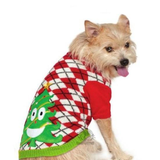 Ugly Sweater Party Christmas Tree Pet Sweater - Furry Friend Frocks