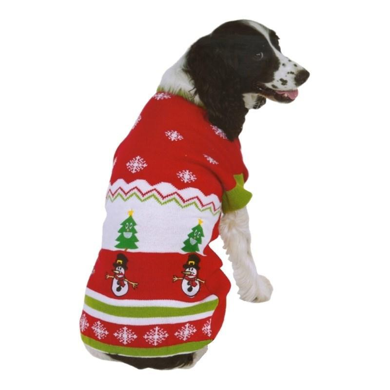 Ugly Sweater Party Holiday Pattern Pet Sweater - Furry Friend Frocks