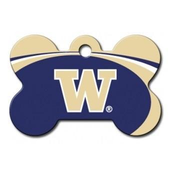 Washington Huskies Bone Id Tag - Furry Friend Frocks
