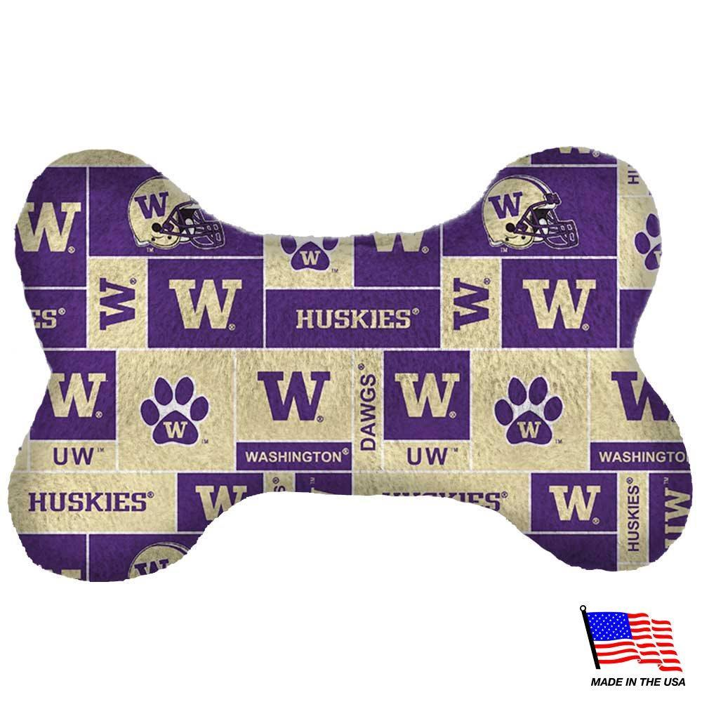 Washington Huskies Plush Bone Toy - Furry Friend Frocks