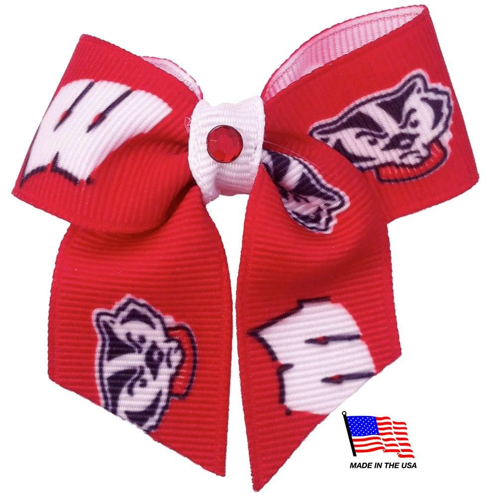 Wisconsin Badgers Pet Hair Bow - Furry Friend Frocks